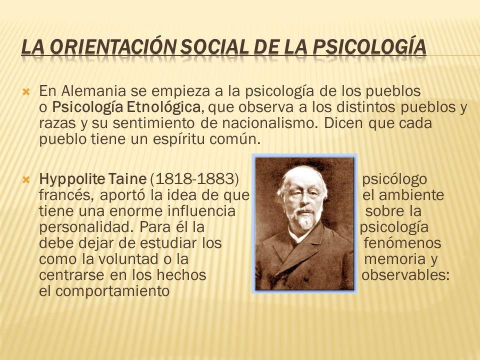 La orientación social de la Psicología