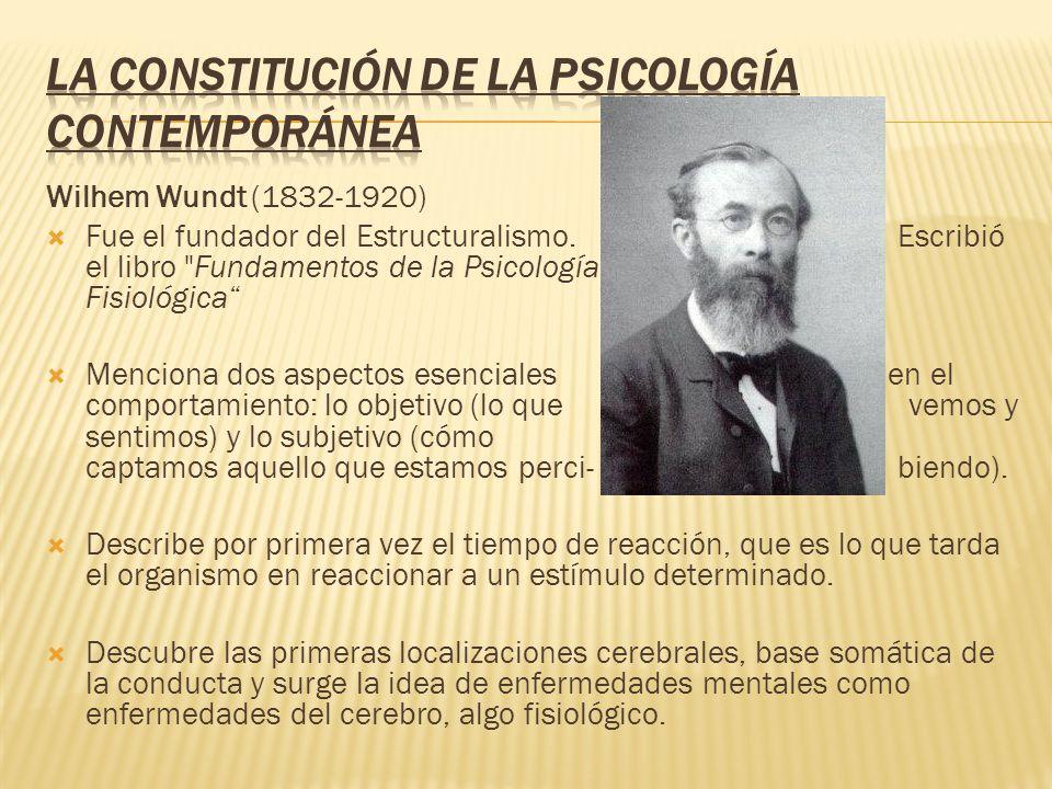 La constitución de la Psicología Contemporánea