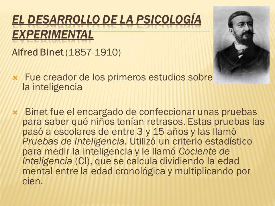El desarrollo de la Psicología Experimental