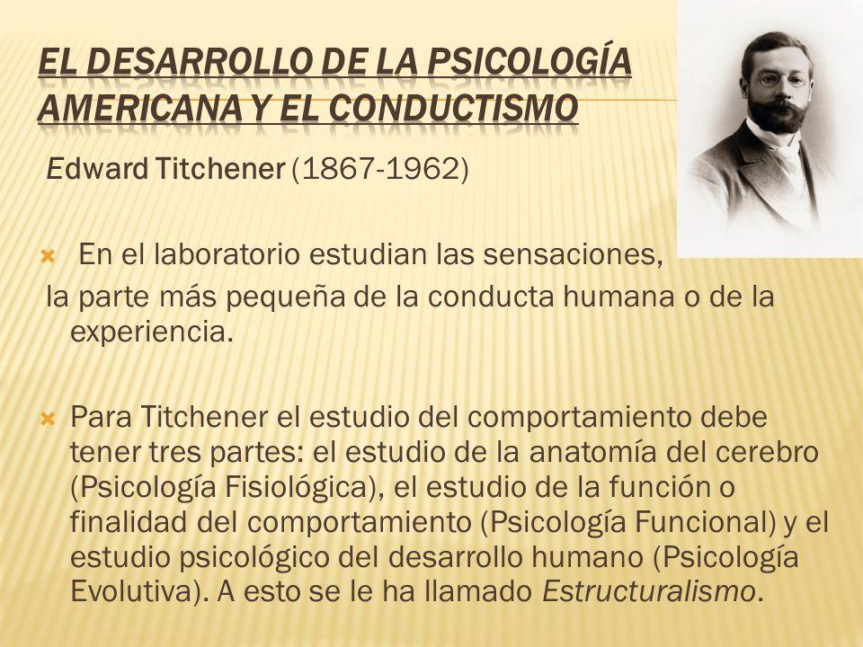 El desarrollo de la Psicología Americana y el Conductismo