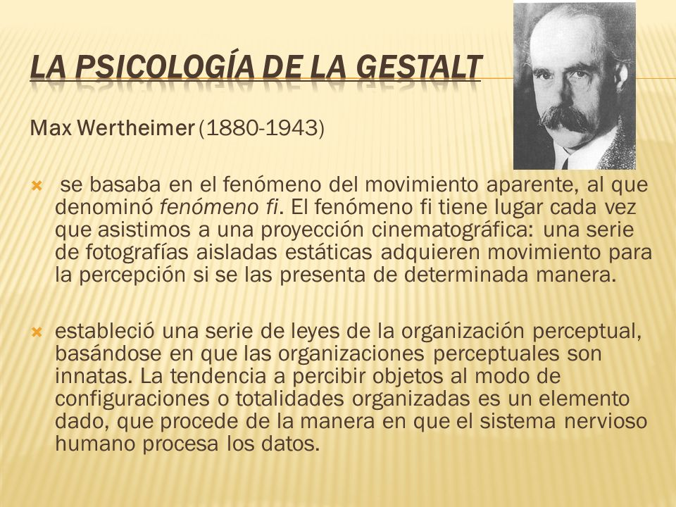 La Psicología de la Gestalt