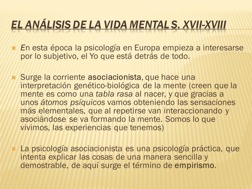 El análisis de la vida mental s. XVII-XVIII