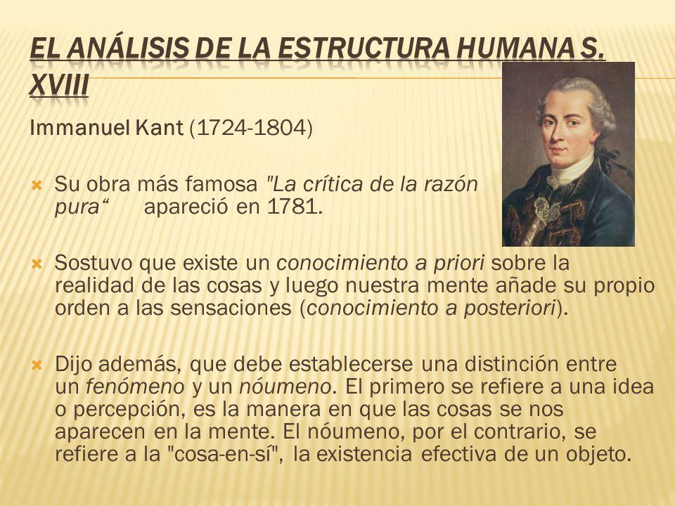 El análisis de la estructura humana s. XVIII