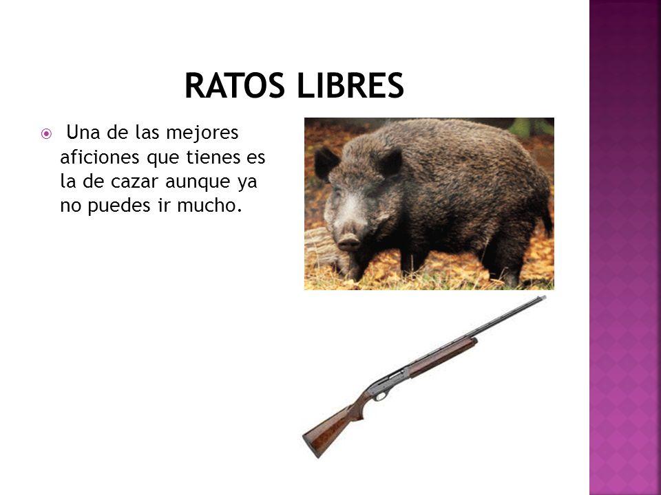 RATOS LIBRES Una de las mejores aficiones que tienes es la de cazar aunque ya no puedes ir mucho.