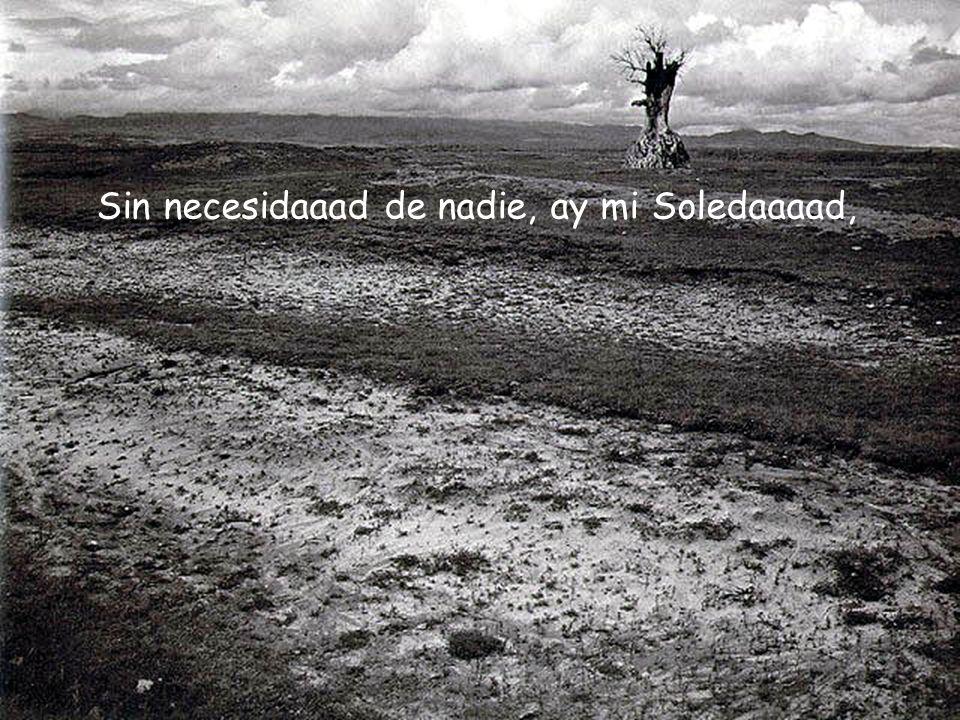 Sin necesidaaad de nadie, ay mi Soledaaaad,