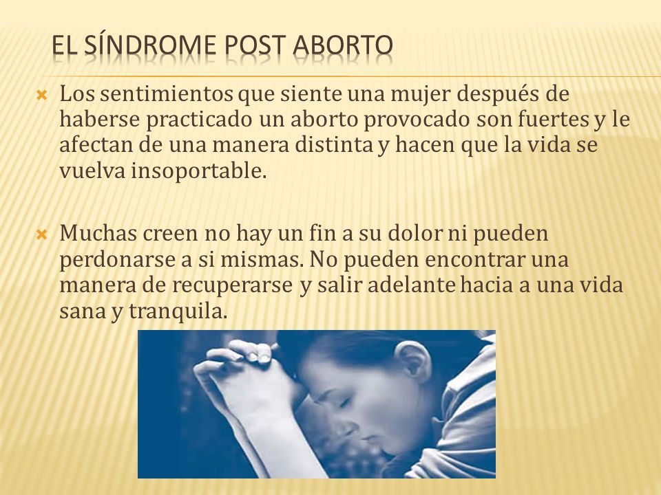 El Síndrome Post Aborto