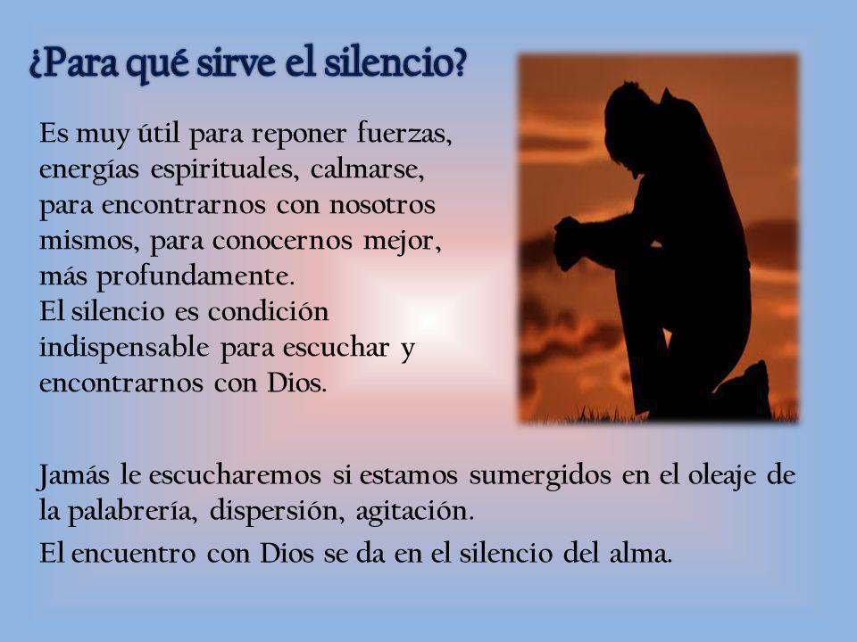¿Para qué sirve el silencio