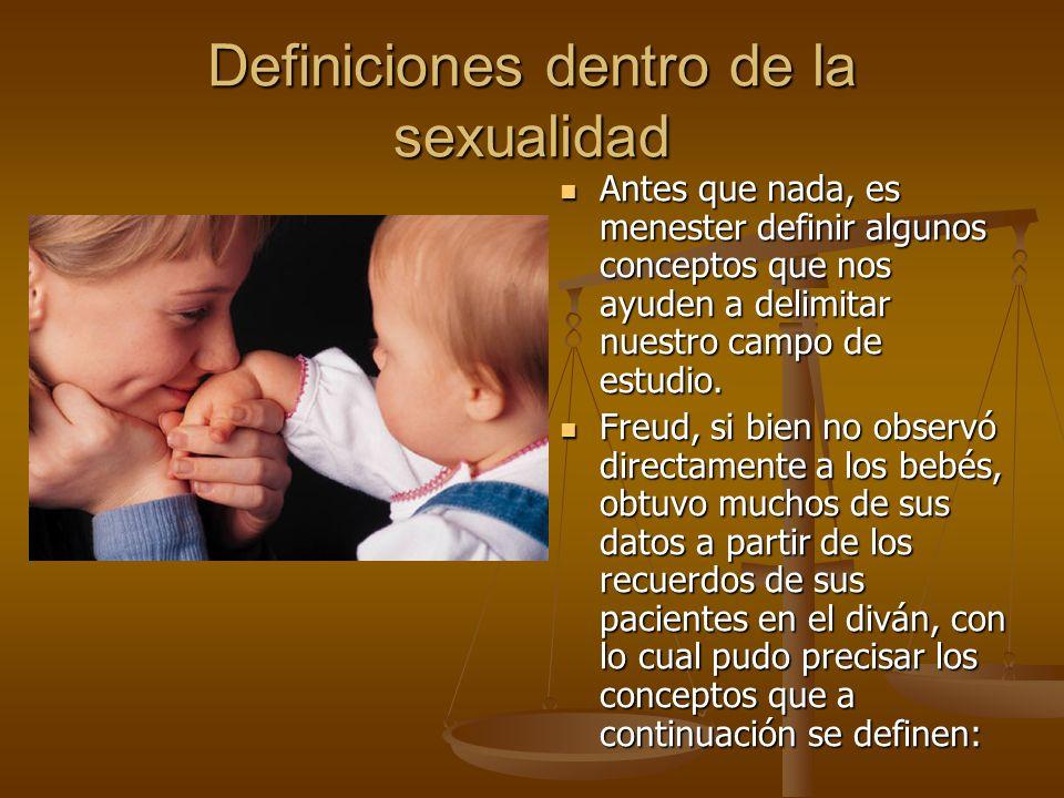 Definiciones dentro de la sexualidad
