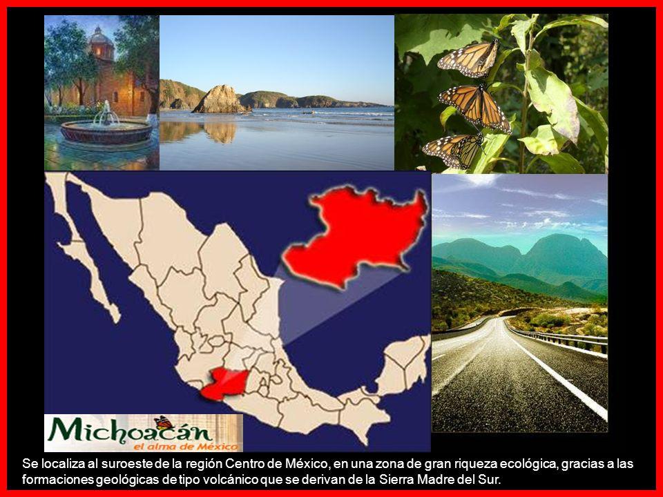 Se localiza al suroeste de la región Centro de México, en una zona de gran riqueza ecológica, gracias a las formaciones geológicas de tipo volcánico que se derivan de la Sierra Madre del Sur.