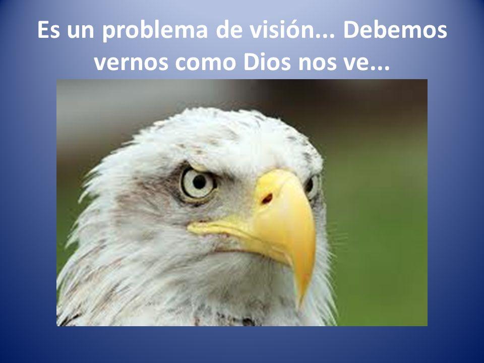 Es un problema de visión... Debemos vernos como Dios nos ve...