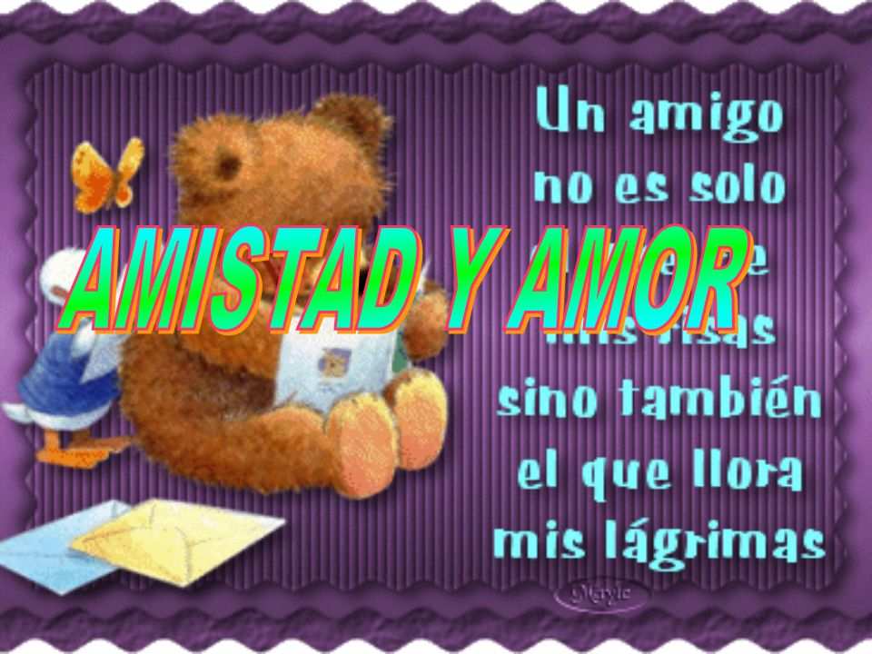 AMISTAD Y AMOR