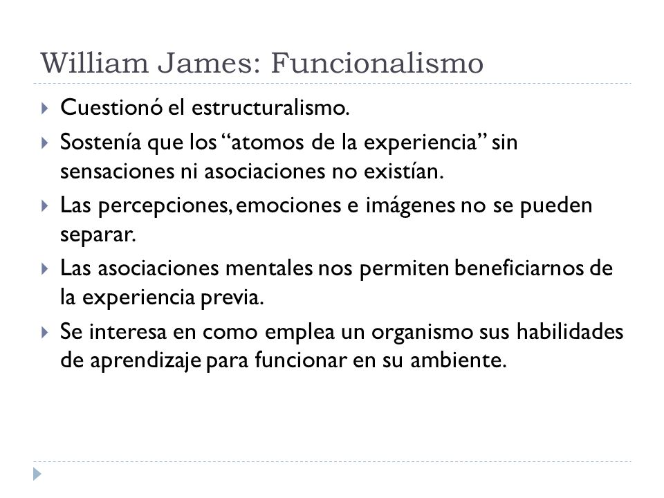 William James: Funcionalismo