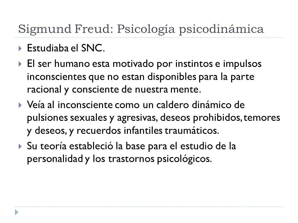 Sigmund Freud: Psicología psicodinámica