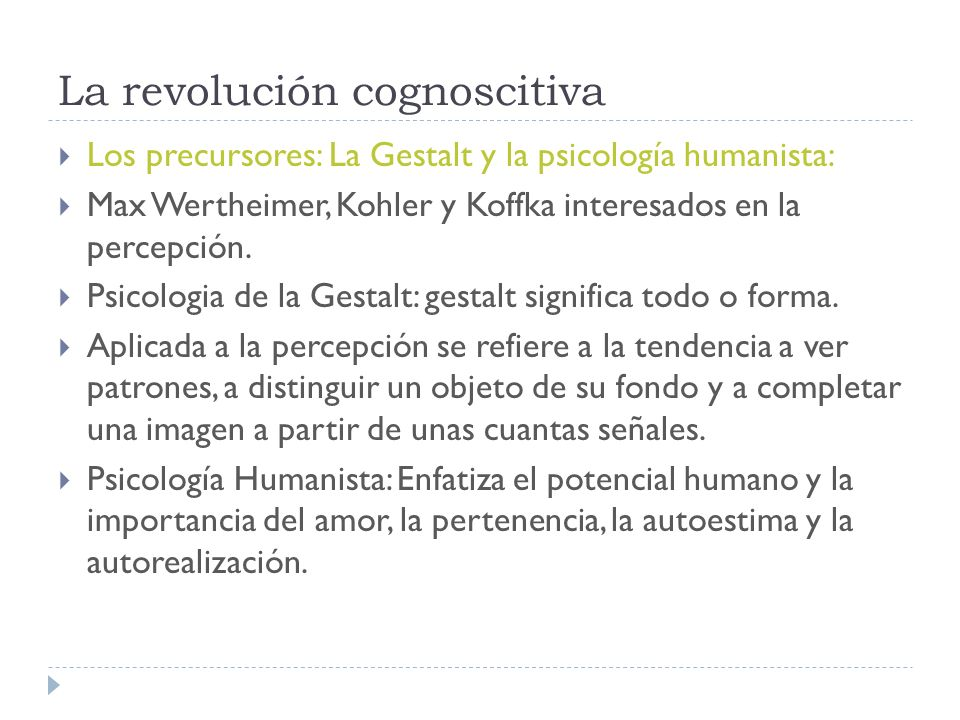 La revolución cognoscitiva