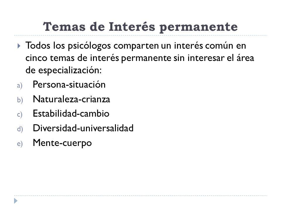 Temas de Interés permanente
