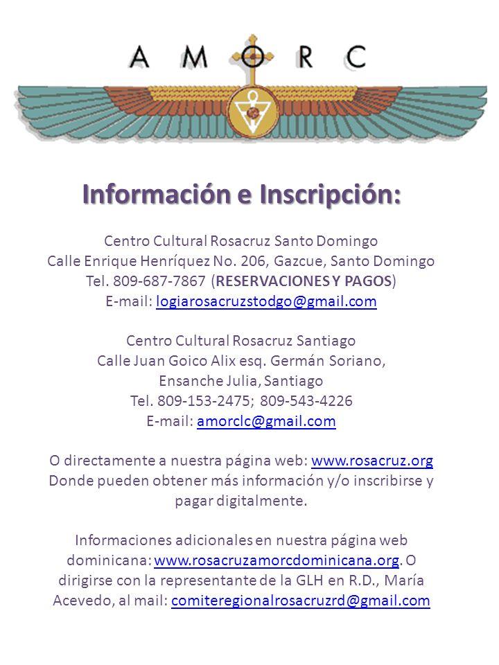 Información e Inscripción: