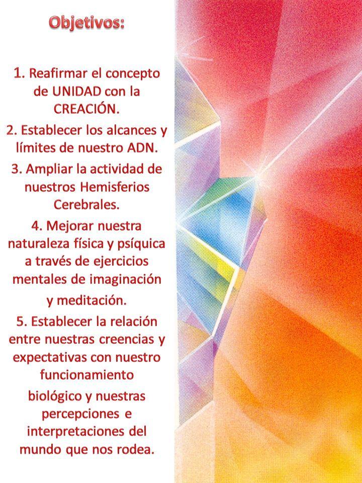 Objetivos: 1. Reafirmar el concepto de UNIDAD con la CREACIÓN.