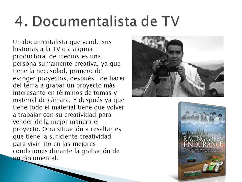 4. Documentalista de TV