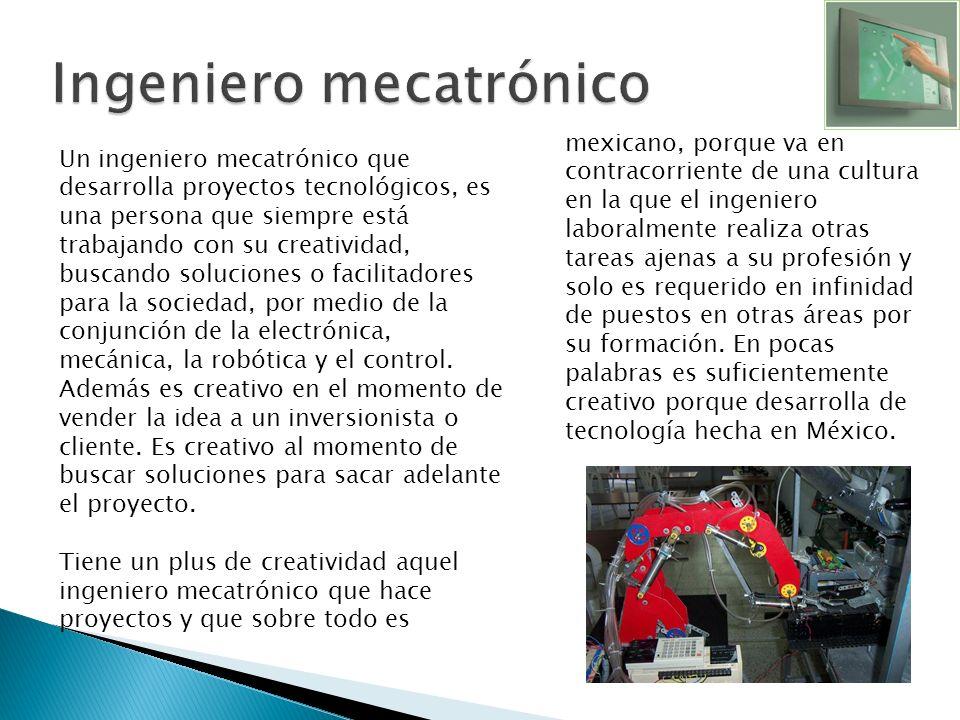 Ingeniero mecatrónico