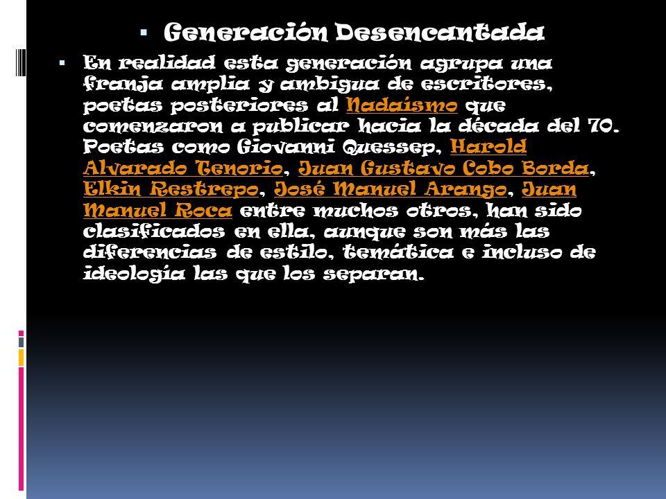 Generación Desencantada
