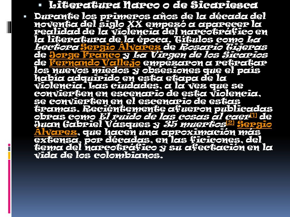 Literatura Narco o de Sicariesca