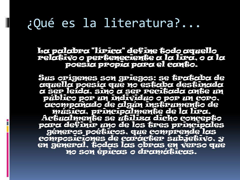 ¿Qué es la literatura ...