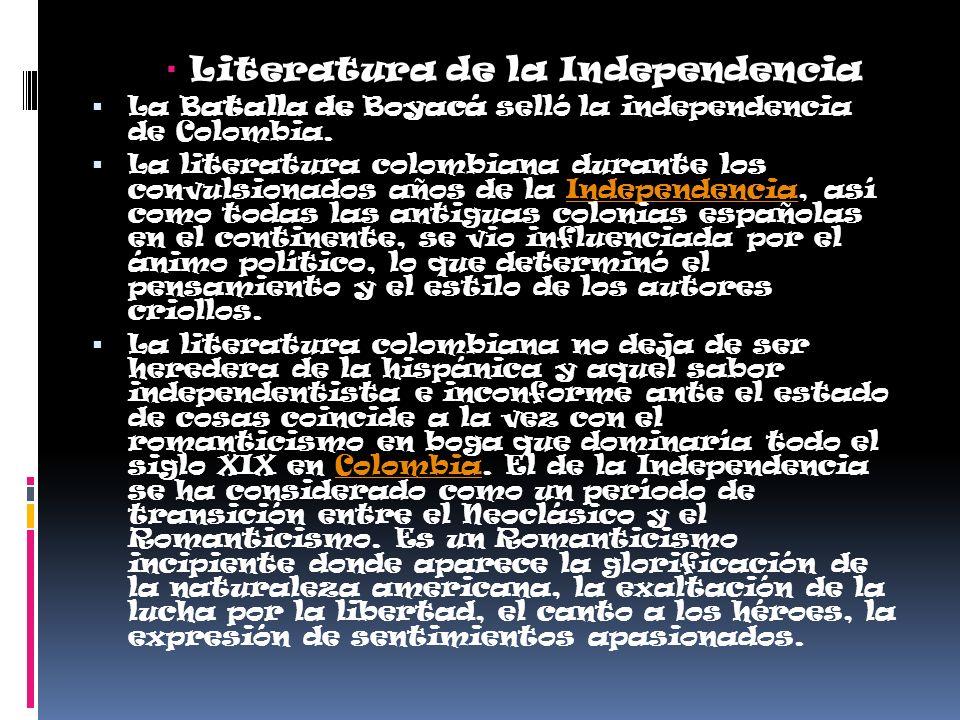 Literatura de la Independencia