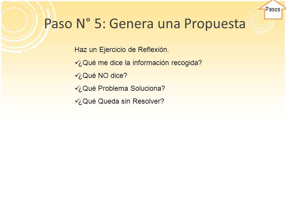 Paso N° 5: Genera una Propuesta