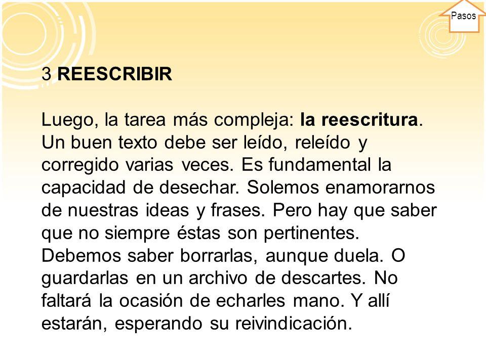 Pasos 3 REESCRIBIR.