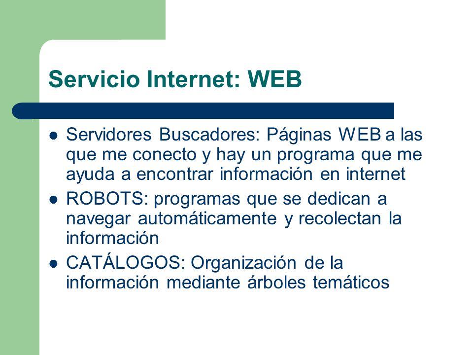 Servicio Internet: WEB