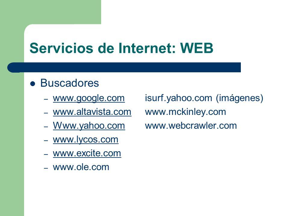 Servicios de Internet: WEB