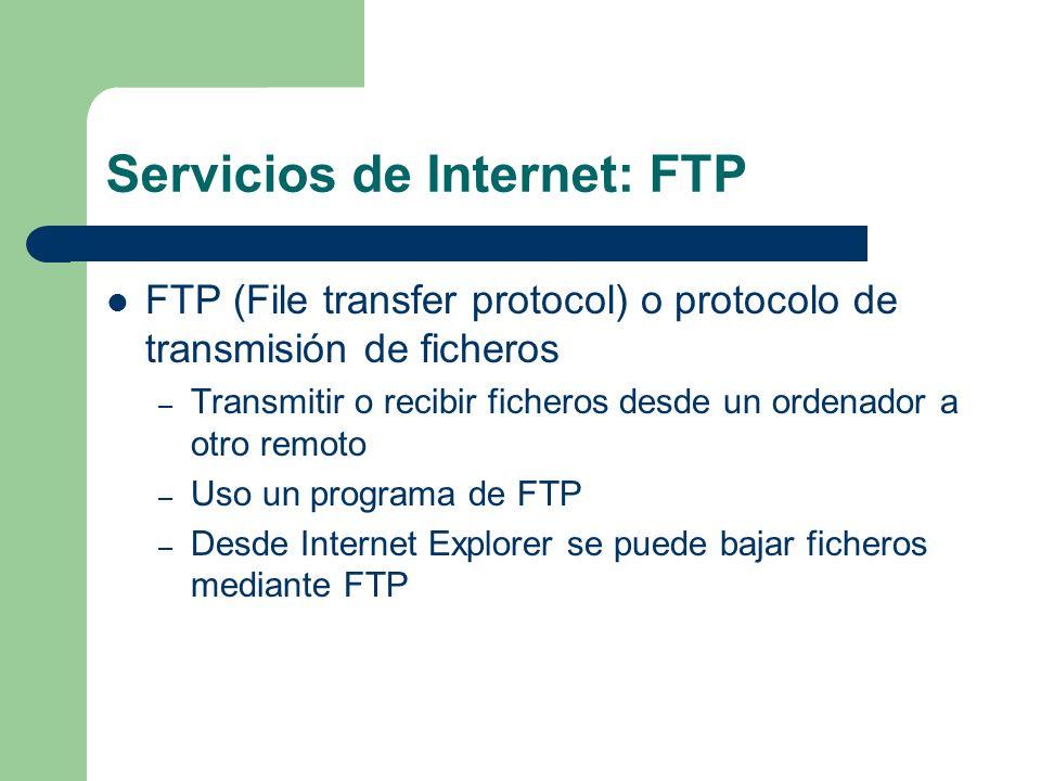 Servicios de Internet: FTP