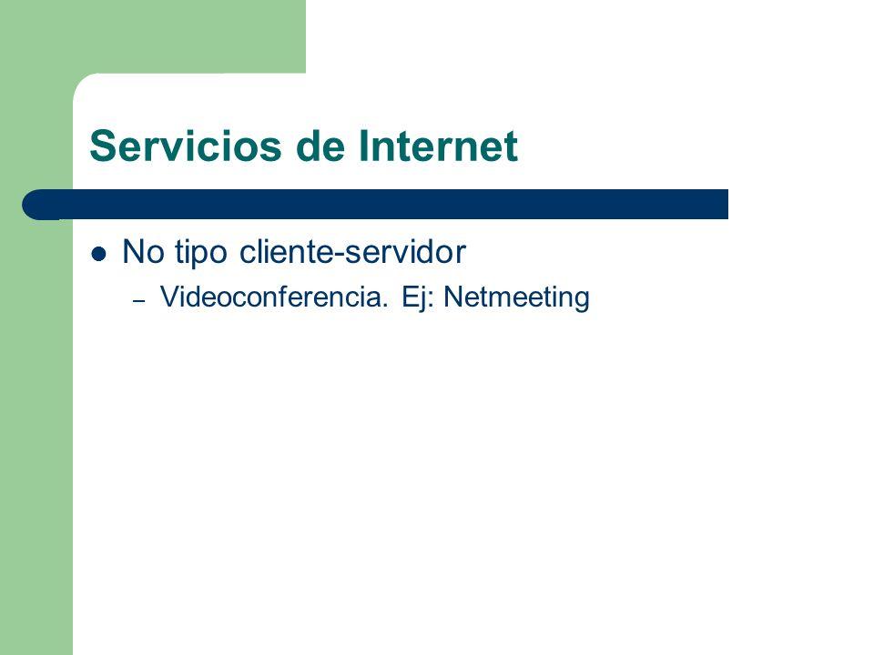 Servicios de Internet No tipo cliente-servidor
