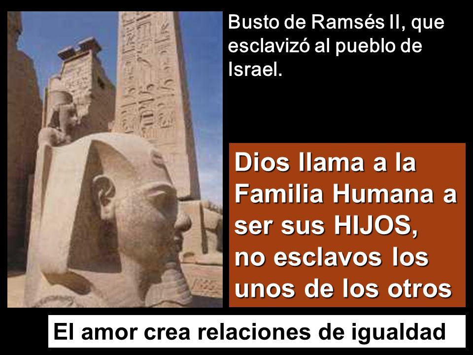 Busto de Ramsés II, que esclavizó al pueblo de Israel.