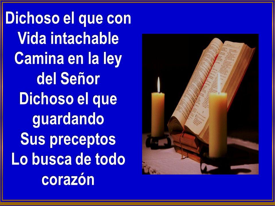Dichoso el que con Vida intachable Camina en la ley del Señor