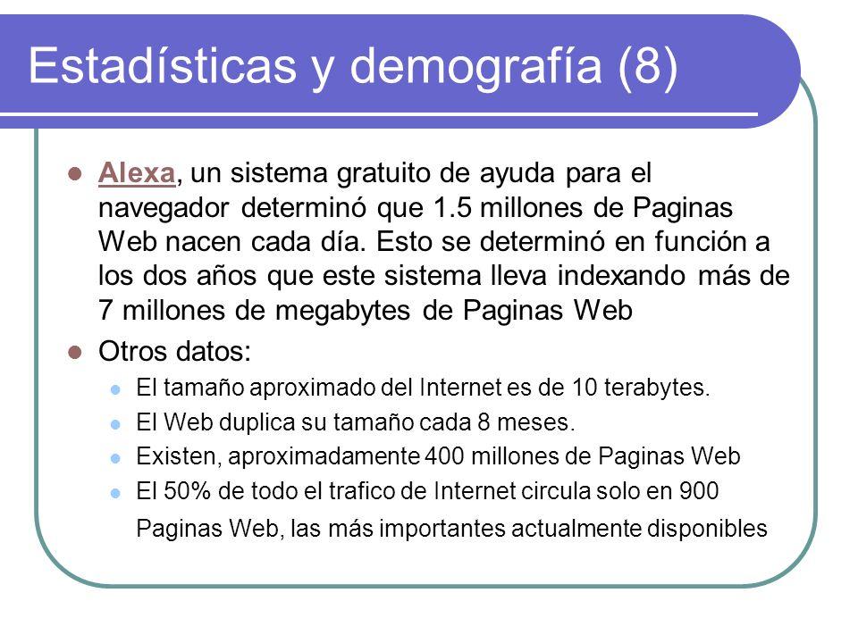 Estadísticas y demografía (8)