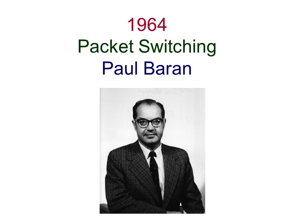 1964 Packet Switching Paul Baran
