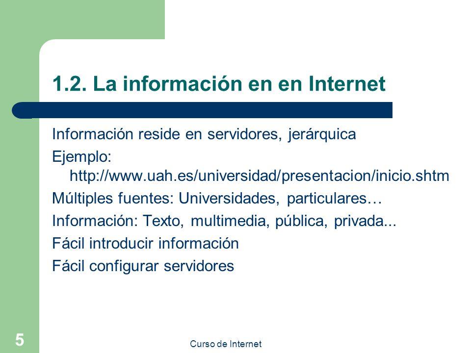 1.2. La información en en Internet