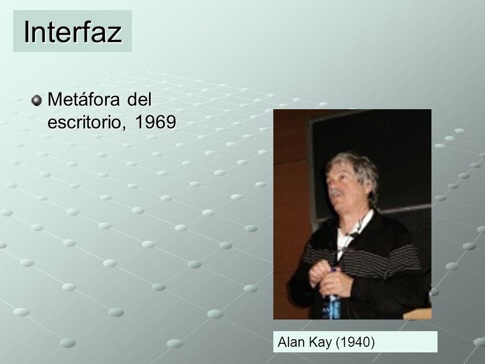 Interfaz Metáfora del escritorio, 1969 Alan Kay (1940)
