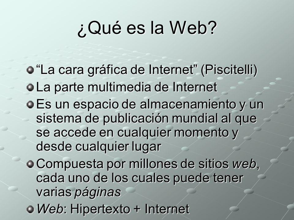 ¿Qué es la Web La cara gráfica de Internet (Piscitelli)