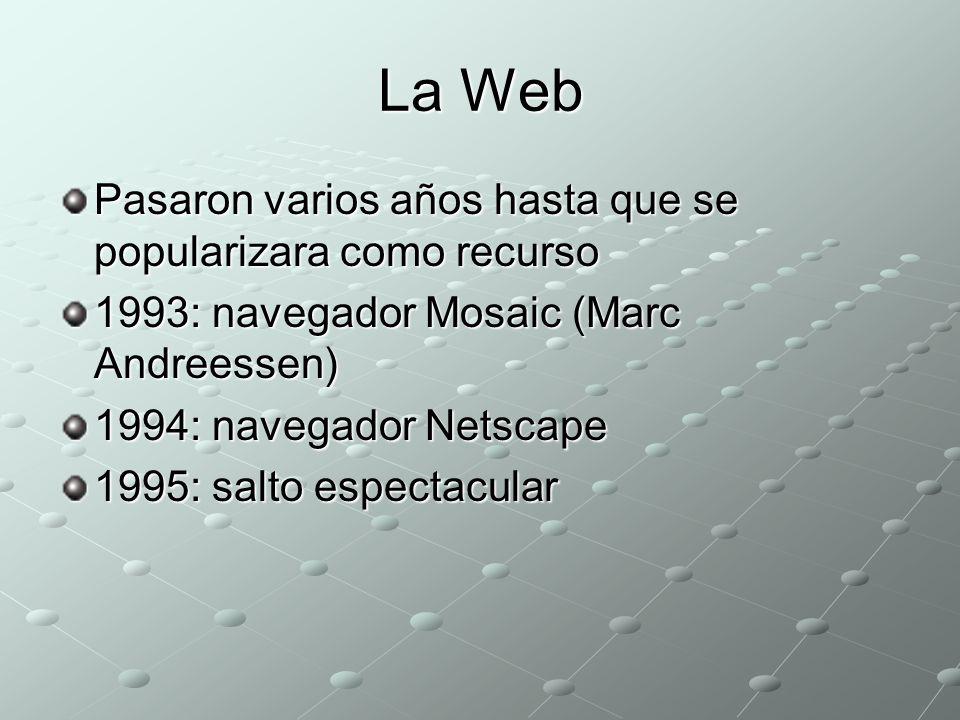 La Web Pasaron varios años hasta que se popularizara como recurso