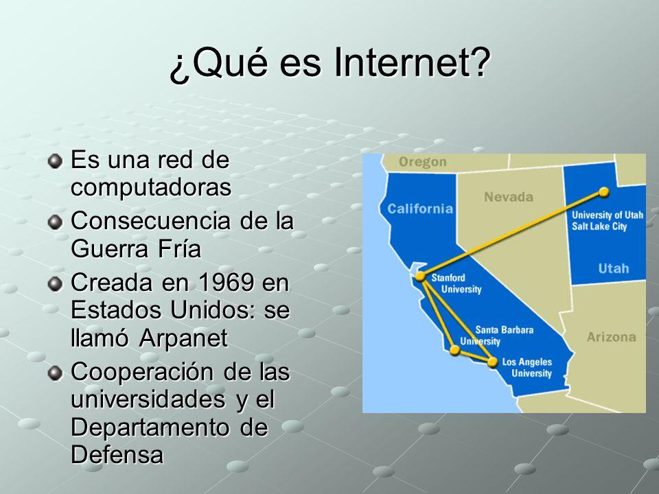 ¿Qué es Internet Es una red de computadoras