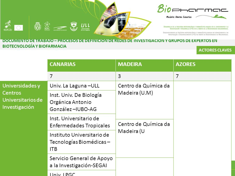 Universidades y Centros Universitarios de Investigación