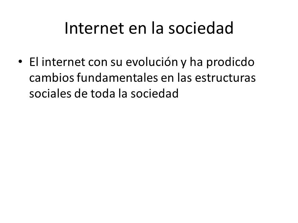 Internet en la sociedad