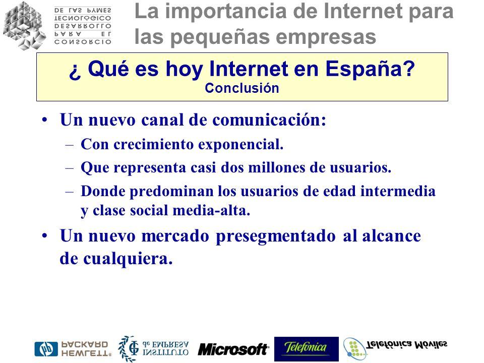 ¿ Qué es hoy Internet en España Conclusión
