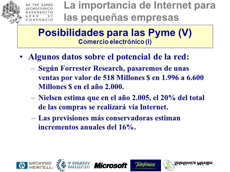Posibilidades para las Pyme (V) Comercio electrónico (I)