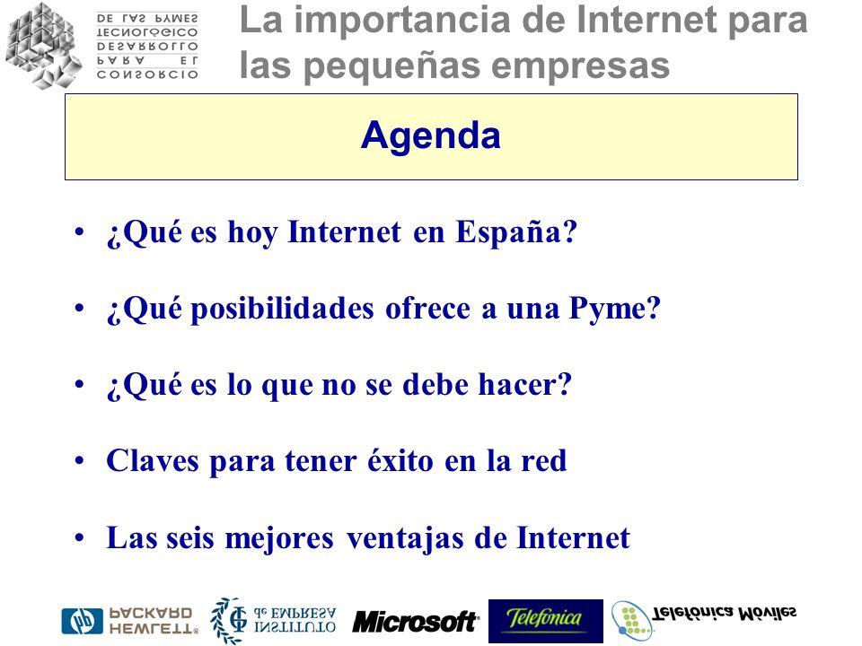 Agenda ¿Qué es hoy Internet en España