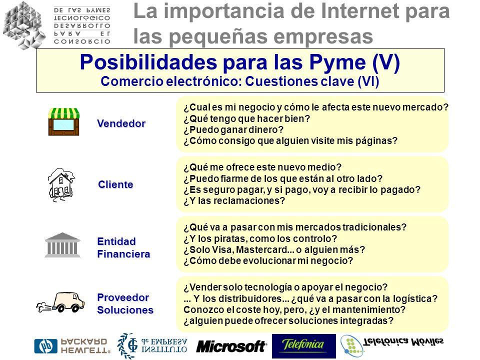 Posibilidades para las Pyme (V) Comercio electrónico: Cuestiones clave (VI)