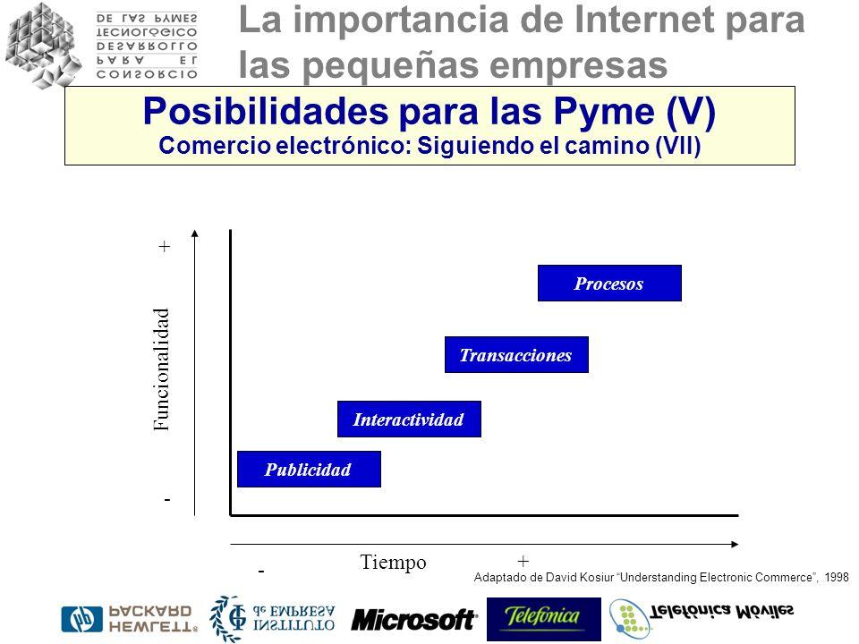 Posibilidades para las Pyme (V) Comercio electrónico: Siguiendo el camino (VII)