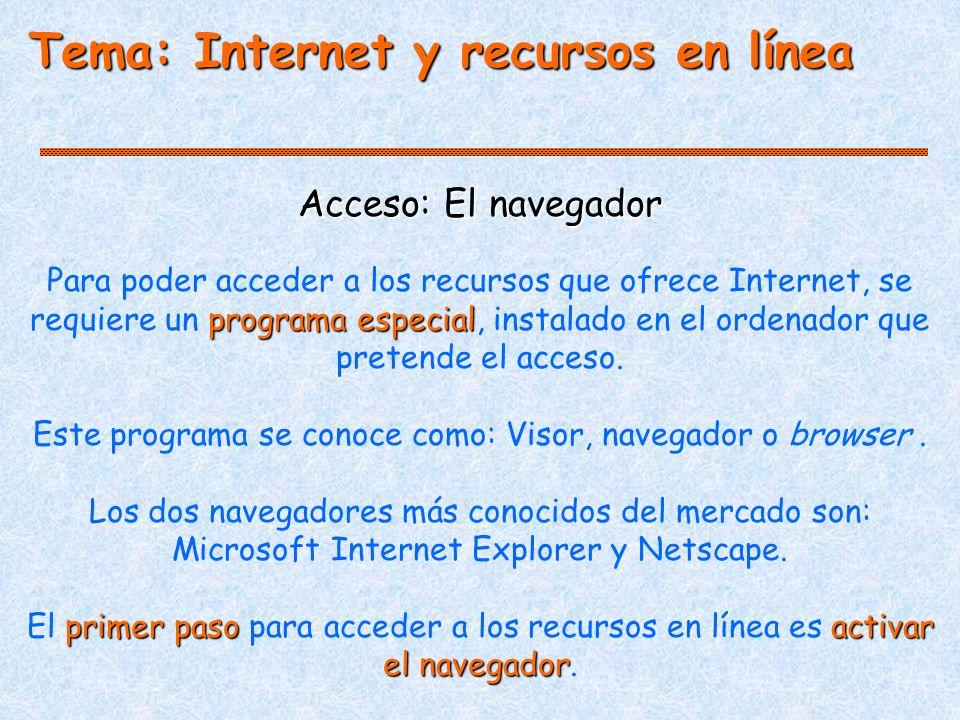 Este programa se conoce como: Visor, navegador o browser .